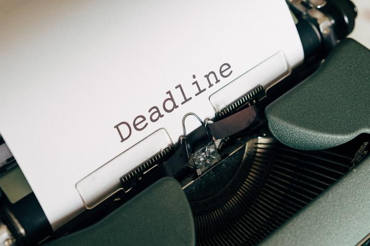 Deadline Title in a Typewriter