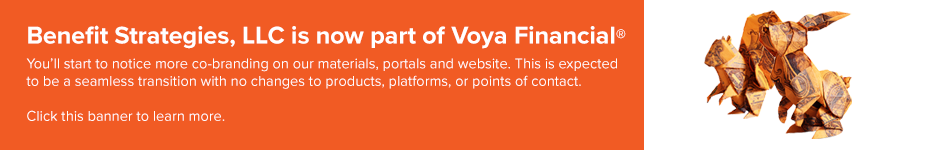 Banner announcing BSL and Voya acquisition